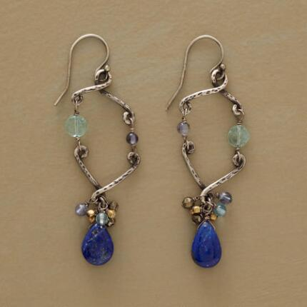 A pair of dangling silhouette earrings with a uniquely lovely profile.