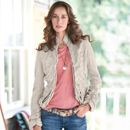 SPIRITED SAFARI JACKET - PETITES