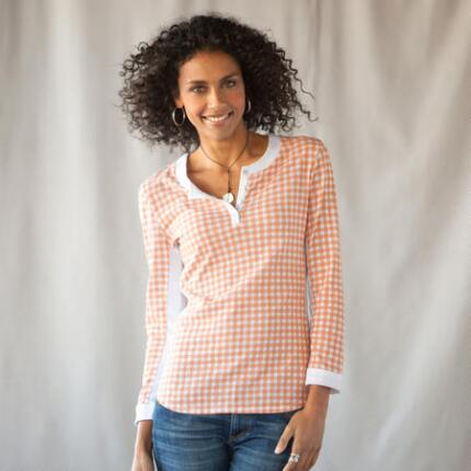 GREAT GINGHAM HENLEY