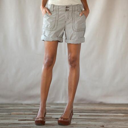 RAILROAD STRIPE SHORTS