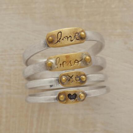 FOUR TIMES THE LOVE RING SET
