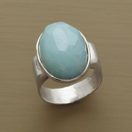OVAL OF AMAZONITE RING