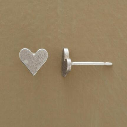 SILVER DIPPED LITTLE HEARTS EARRINGS