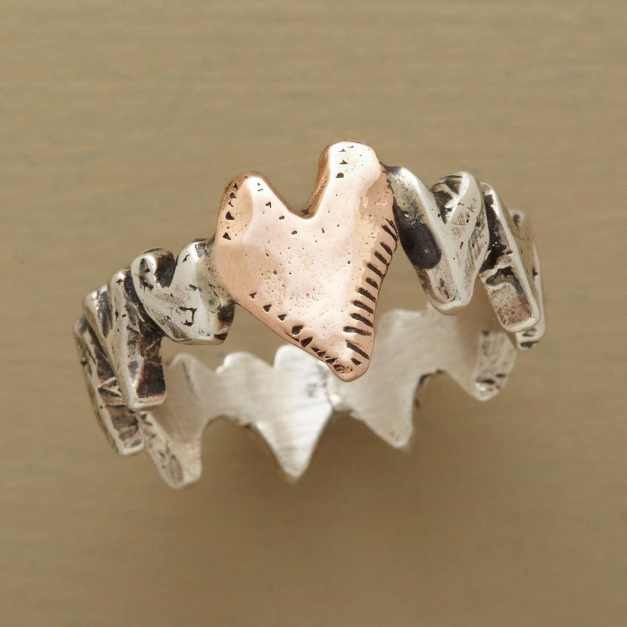 ROCK SOLID HEART RING