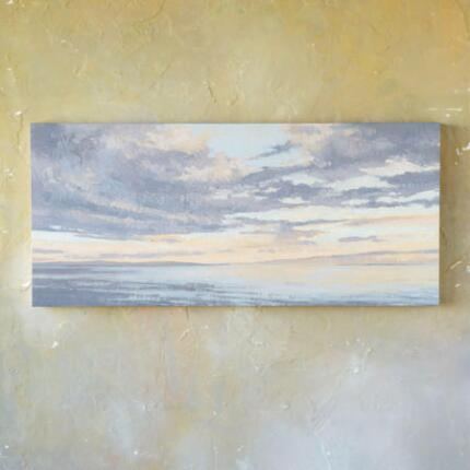 This oil painting, New Year Sky, arrests on canvas a scene of breathtaking beauty.