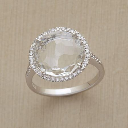 Blindingly beautiful, this white topaz shine ring is almost dangerously fine.