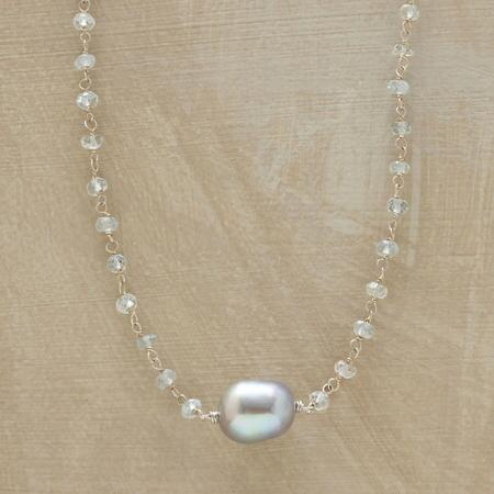 PLATINUM PEARL NECKLACE