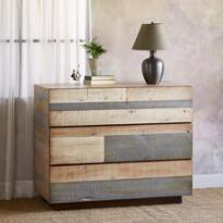 PACIFICA BARN WOOD DRESSER, HIGH