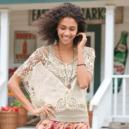 LACE ALLURE BLOUSE