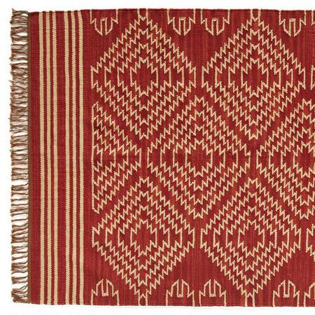 TRIBAL GRAPHIC DHURRIE RUG - LG