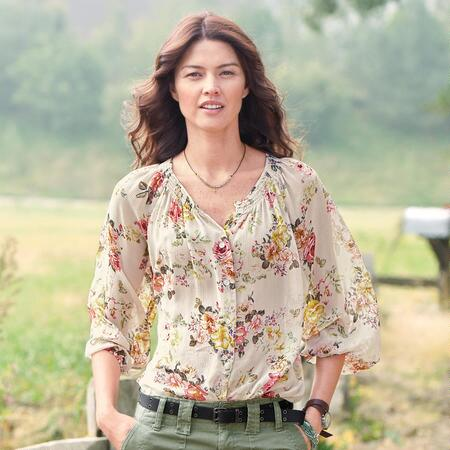 PERFECT PEASANT BLOUSE DAINTY FLOR