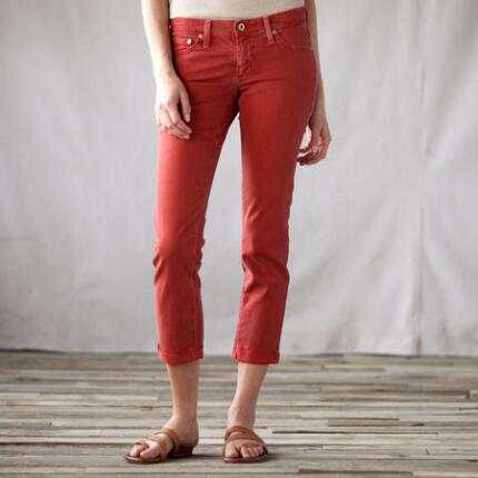 AG STILT PINSTRIPED CROPPED PANTS