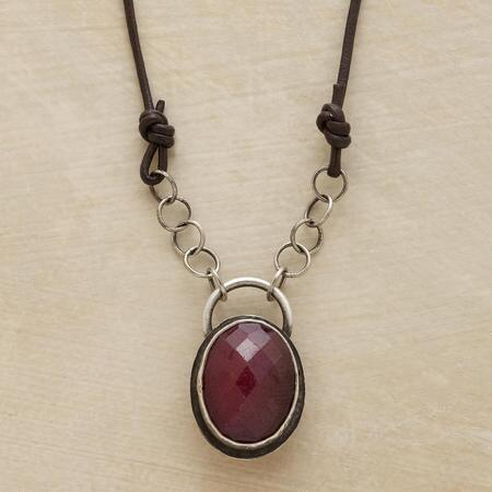 RUBY AMULET NECKLACE