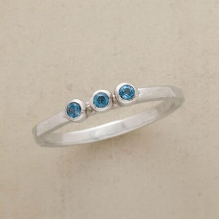 This lovely little London blue topaz ring is a wish come true.