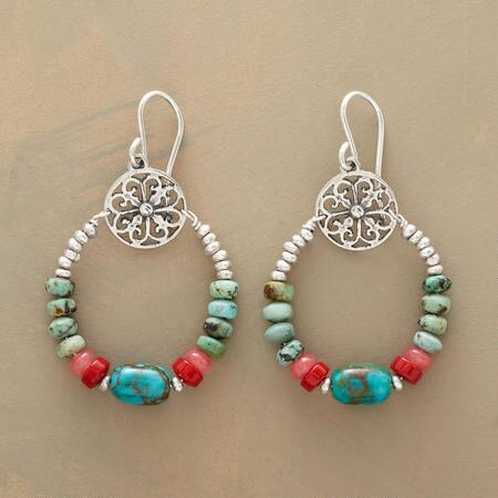 FINE FRETWORK EARRINGS