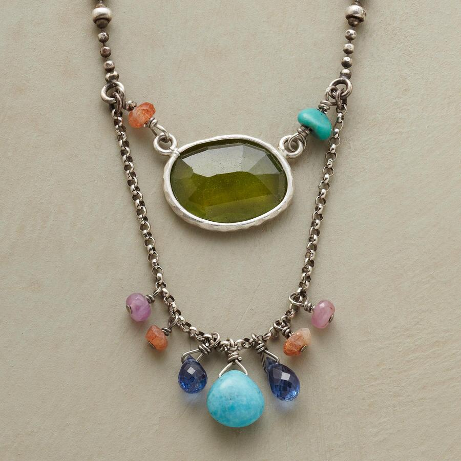 RAINBOW LARIAT NECKLACE