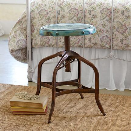 Our iron spinning stool is fun, functional, and absolutely classic.