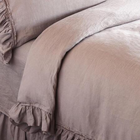 RUFFLED LINEN DUVET COVER
