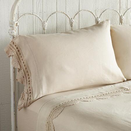 CROCHET LINEN PILLOWCASES