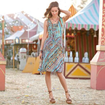 CITY LIGHTS DRESS - PETITES
