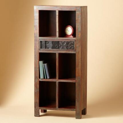 SMALL SECOND GENERATION CARVED CUBBY CABINET