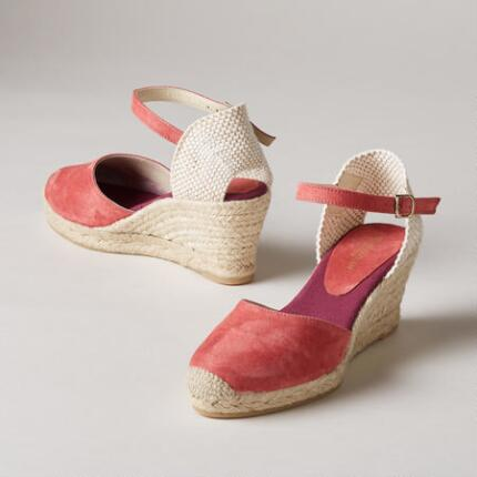 SUEDE ANKLE STRAP ESPADRILLES
