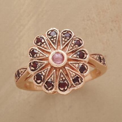 Intricately wrought, this vintage rose gold ring exudes an air of enchantment.