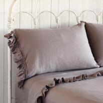 RUFFLED LINEN PILLOWCASES