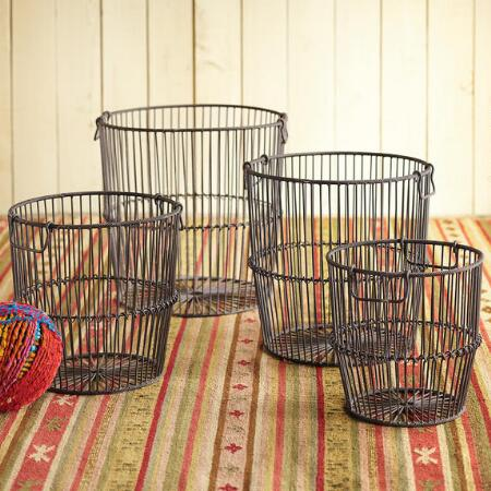 WIREWORK BASKETS, SET OF 4