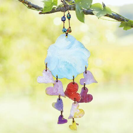 SHOWER OF HEARTS WINDCHIME