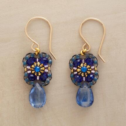 BURST OF BLUE EARRINGS