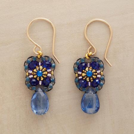 A pair of Miguel Ases blue kyanite earrings as delicate as it is stunning.