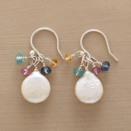 PEARL & GEM EARRINGS