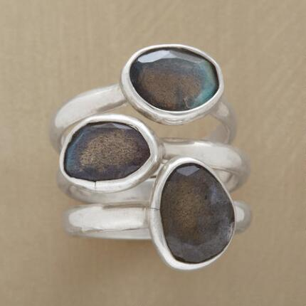 LABRADORITE RING SET S/3