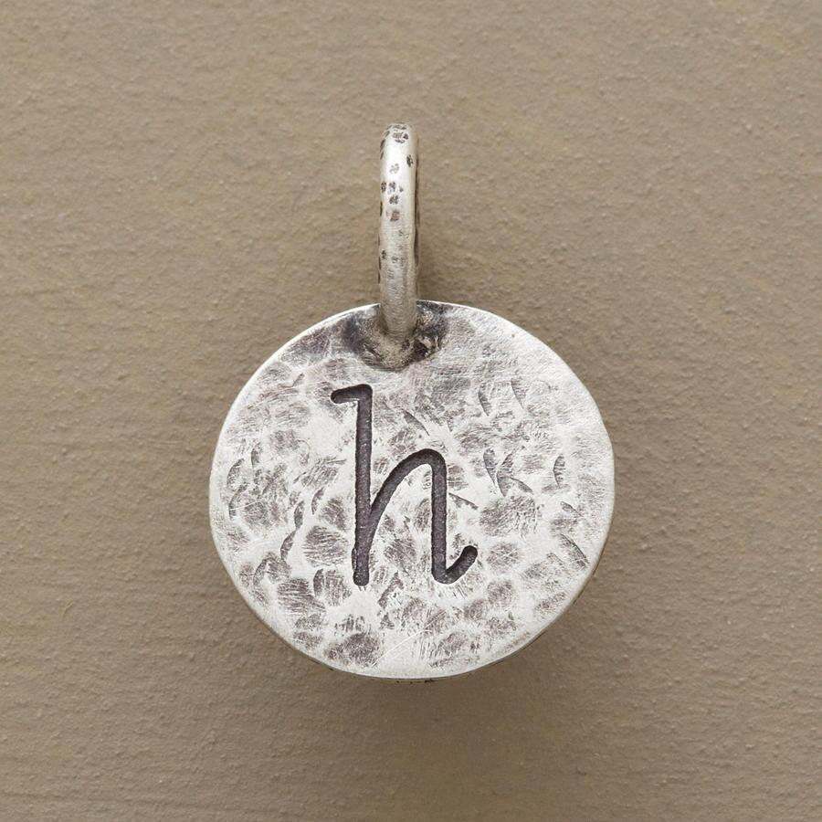 STERLING SILVER HAMMERED INITIAL CHARM