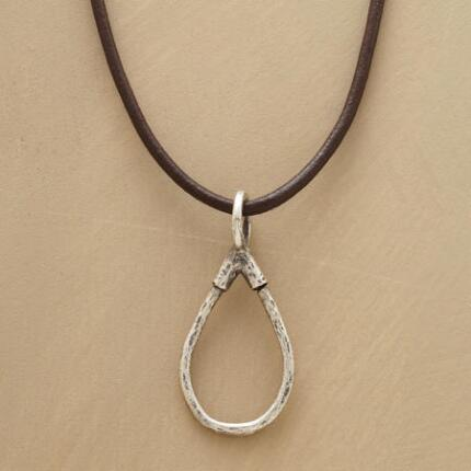 LEATHER CHARMHOLDER NECKLACE