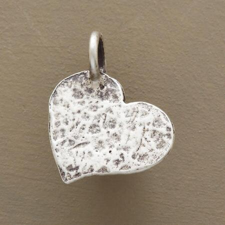 STERLING SILVER HAMMERED INSPIRATIONAL CHARMS