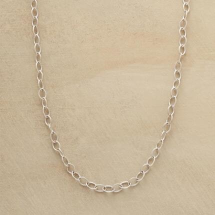 Our exclusive sterling chain necklace will hold up beautifully, however many charms you might add to it.