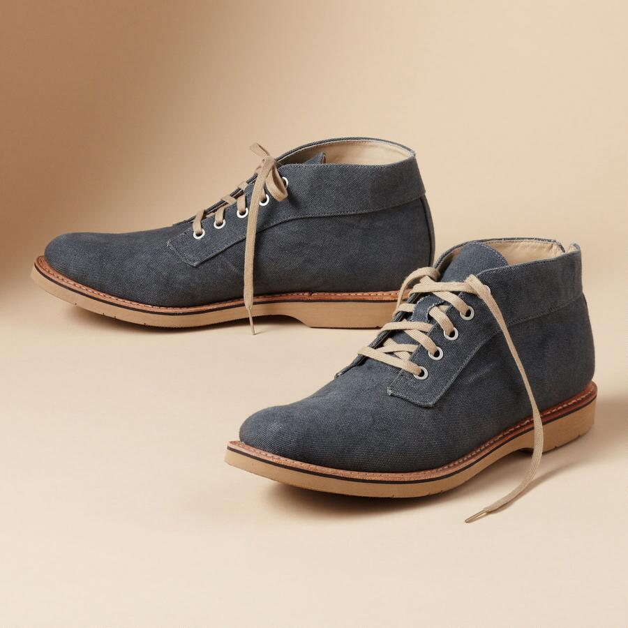CANVAS LACE-UP SHORT BOOTS
