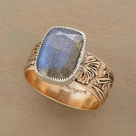 MIXED METAL NOUVEAU LABRADORITE RING