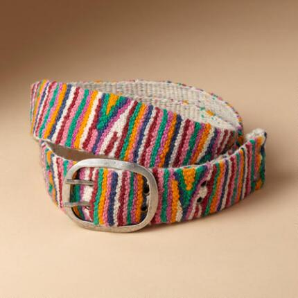 COLOR IN STRIPES BELT
