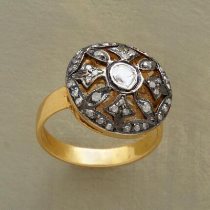 Ornately distinctive, this byzantine dome ring is a singular accessory.