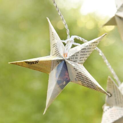 ORIGAMI STAR LIGHT STRING