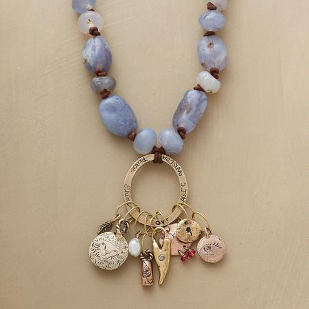 MESOPOTAMIAN CHALCEDONY NECKLACE