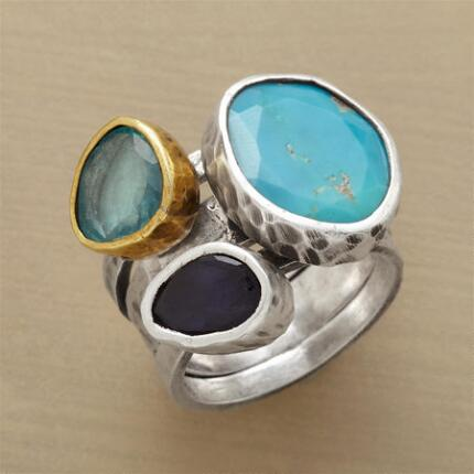 BOLD BEAUTIES RINGS S/3
