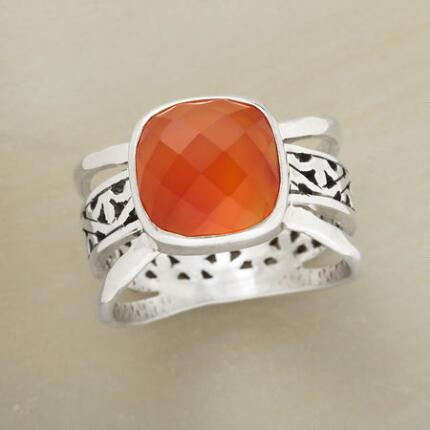 This handmade gemstone ring has an eye-catching color that makes it a truly stunning piece.