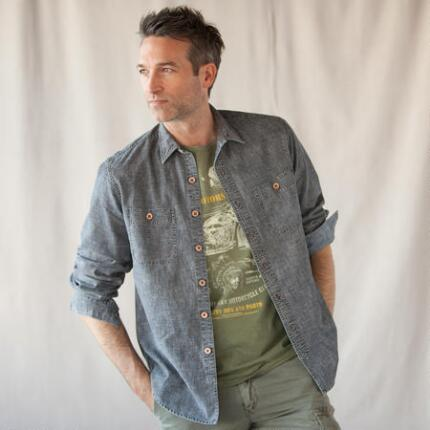 STUDIO CHAMBRAY SHIRT