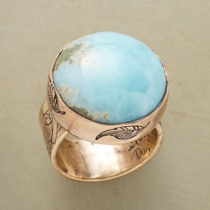 LARIMAR BLUE EARTH RING