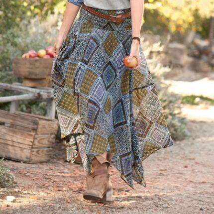 BOHEMIAN SILK HANDKERCHIEF SKIRT