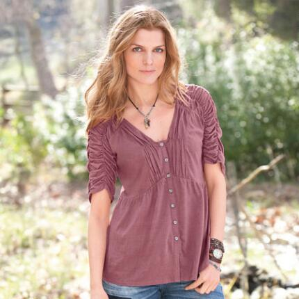 SERENA RUCHED TEE